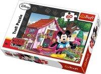 Puzzle 60 Trefl 17285 Miki i Minnie w Ogrodzie