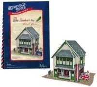 Puzzle 3D CubicFun 36 Domki Świata - Anglia - Sandwich Shop W3106h