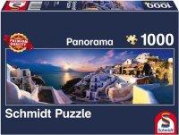 Puzzle 1000 Schmidt 58281 Santorini - Grecja - Panorama