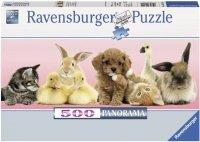 Puzzle 500 Ravensburger 148011 Zwierzęta - Przyjaciele - Panorama