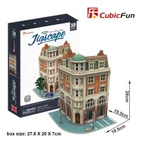 Puzzle 3D CubicFun 94 Corner Savings Bank HO4102h