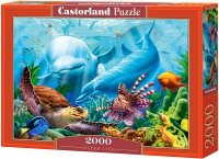 Puzzle 2000 Castorland C-200627 Delfiny - Podwodny Świat