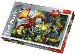 Puzzle 100 Trefl T-16281 Rycerze - Spotkanie ze Smokiem