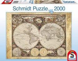 Puzzle 2000 Schmidt 58178 Historyczna Mapa Świata