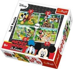 Puzzle 4w1 Trefl T-34261 Myszka Miki - Zabawy w Parku