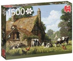 Puzzle 1500 Jumbo 18579 PC Krowy na Farmie