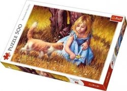 Puzzle 500 Trefl 37291 Dziewczynka z Kotkiem