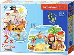 Puzzle 2w1 Castorland 15, 9 - Piraci 020010
