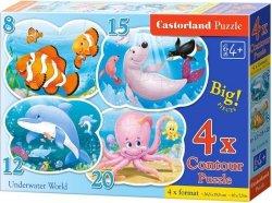 Puzzle 8,12,15,20 Castorland B-043026 Życie pod Wodą