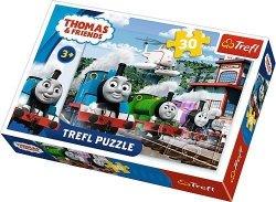 Puzzle 30 Trefl 18230 Tomek i Przyjaciele - Wyścig na Torach