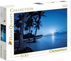 Puzzle 500 Clementoni 35023 Tropikalna Plaża w Blasku Księżyca