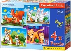 Puzzle 8,12,15,20 Castorland B-041046 Piękne Zwierzęta