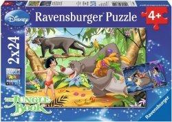 Puzzle 2x24 Ravensburger 088942 Księga Dżungli 2w1