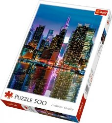 Puzzle 500 Trefl 37261 Pełnia Księżyca nad Manhattanem