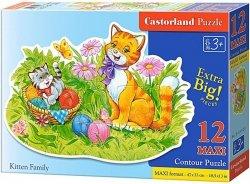 Puzzle 12 Maxi Castorland B-120123 Kocia Rodzina