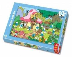 Puzzle 24 Maxi Trefl 14119 Pracowite Smerfy
