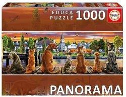 Puzzle 1000 Educa 17689 Psy na Molo - Panorama