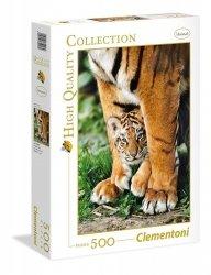 Puzzle 500 Clementoni 39046 Tygrysek Bengalski z Mamą