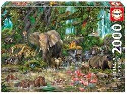 Puzzle 2000 Educa 16013 Afrykańska Dżungla