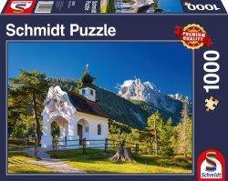 Puzzle 1000 Schmidt 58318 Kaplica w Alpach Bawarskich