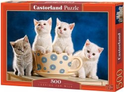 Puzzle 500 Castorland B-52608 Koty - Looking for Milk