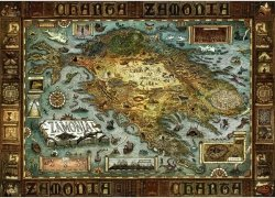 Puzzle 2000 Heye 29622 Map of Zamonia