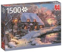 Puzzle 1500 Jumbo 18526 PC Świąteczny Nastrój