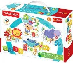 Puzzle Baby Classic Trefl T-36059 Rainbow Forest Małpka, Lew, Hipopotam, Żaba