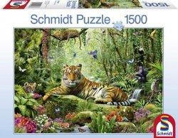 Puzzle 1500 Schmidt 58188 Tygrysy w Dżungli