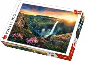 Puzzle 2000 Trefl 27091 Wodospad Haifoss - Islandia