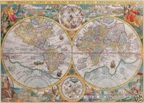 Puzzle 1500 Ravensburger 163816 Historyczna Mapa Świata