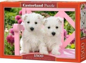 Puzzle 1500 Castorland C-151721 Szczenięta White Terrier