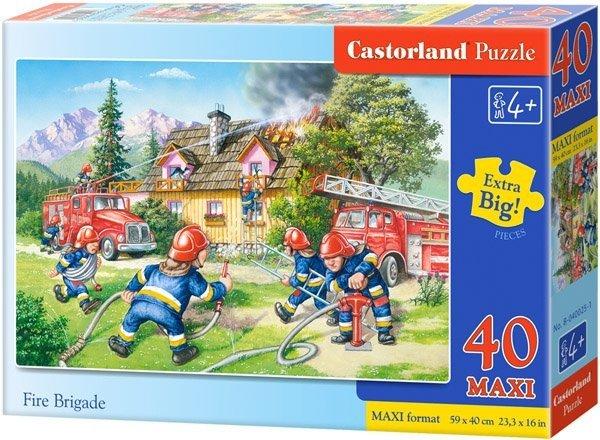 Puzzle 40 Maxi Castorland B-04025 Straż Pożarna - Fire Brigade