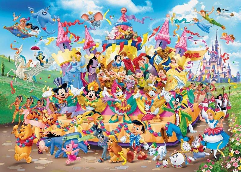 Puzzle 1000 Ravensburger 193837 Karnawał u Disneya