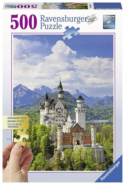 Puzzle 500 Ravensburger 136810 Bajkowy Zamek Neuschwanstein