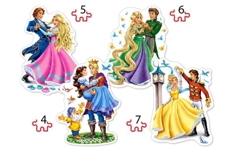 Puzzle 4,5,6,7 Castorland B-04461 Bal Księżniczek