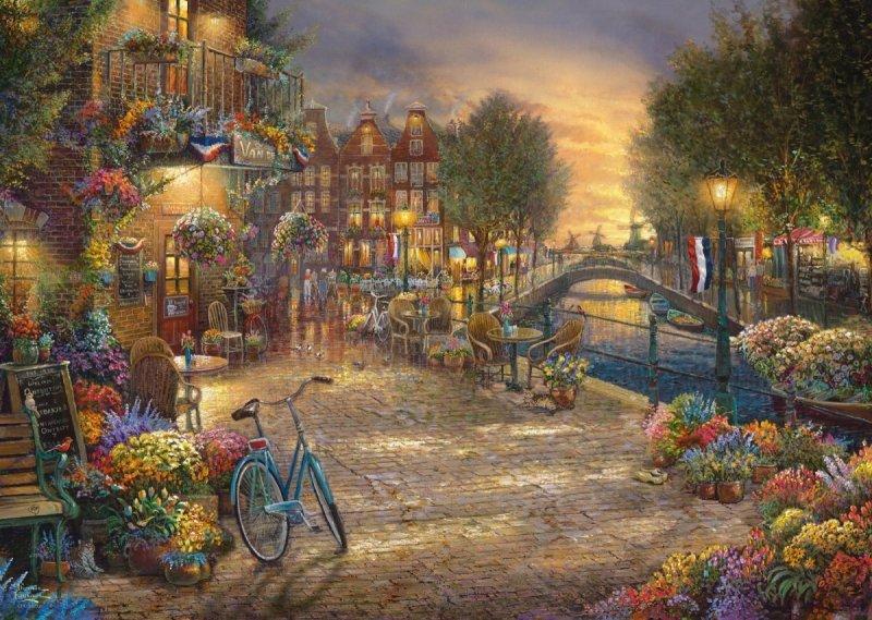 Puzzle 1000 Schmidt 59917 Thomas Kinkade - Amsterdam