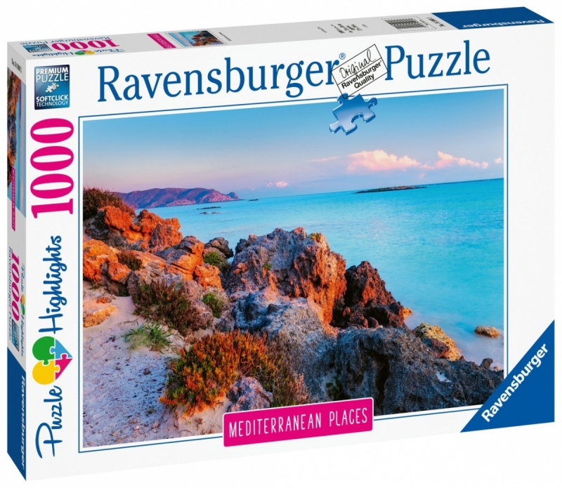Puzzle 1000 Ravensburger 149803 Śródziemnomorska Grecja