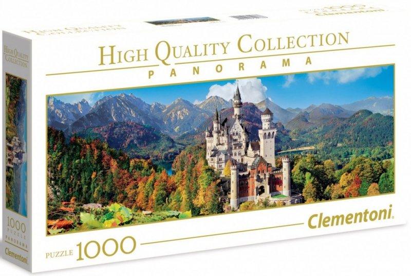 Puzzle 1000 Clementoni 39438 Zamek Neuschwanstein - Panorama
