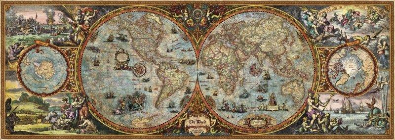 Puzzle 6000 Heye 29615 Mapa Świata - Hemisphere Map