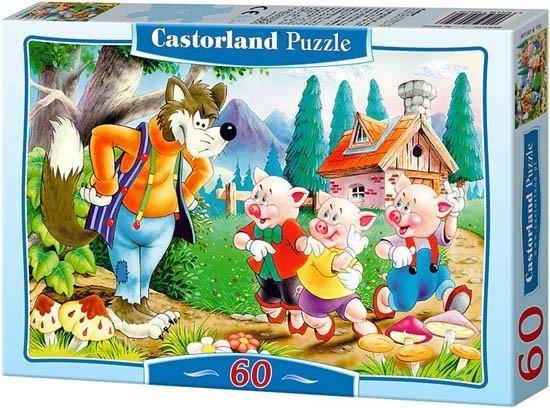 Puzzle 60 Castorland B-06519 Trzy Świnki - Three Little Pigs