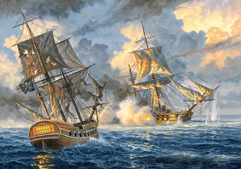 Puzzle 500 Castorland B-53483 Bitwa na Morzu