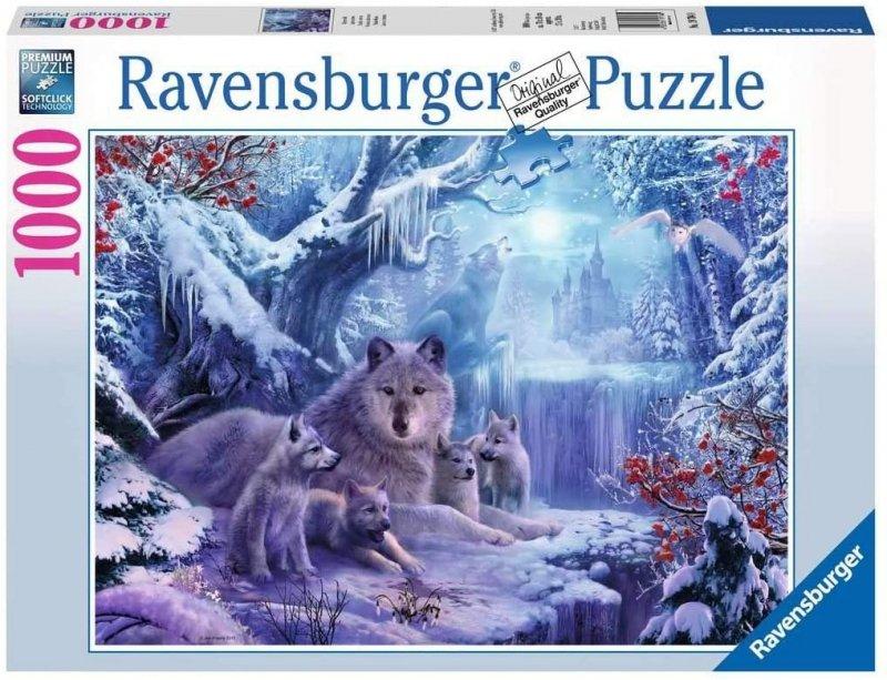 Puzzle 1000 Ravensburger 197040 Wilki - Zima
