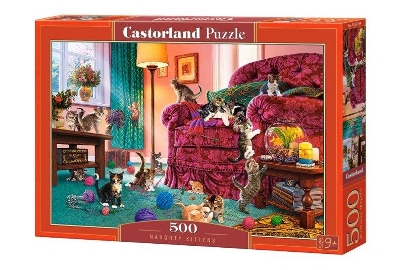 Puzzle 500 Castorland B-53254 Niegrzeczne Kocięta