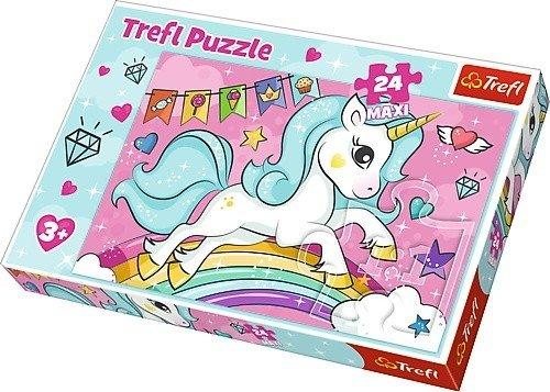 Puzzle 24 Maxi Trefl 14302 Słodki Jednorożec