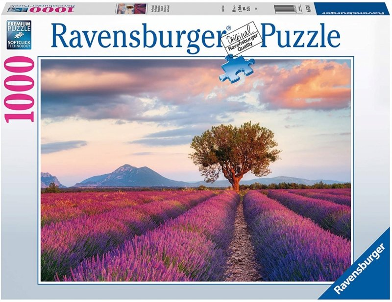 Puzzle 1000 Ravensburger 167241 Lawendowe Pole