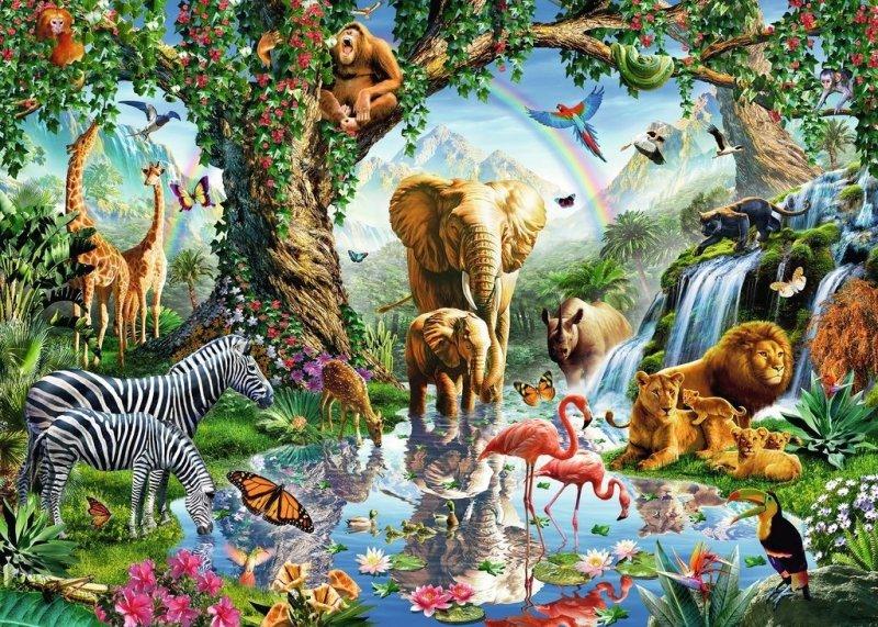 Puzzle 1000 Ravensburger 198375 Przygoda w Dżungli