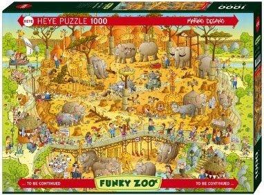Puzzle 1000 Heye 29639 Marino Degano - Funky Zoo African Habitat
