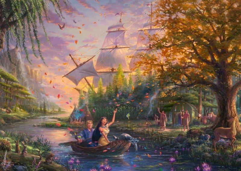 Puzzle 1000 Schmidt 59688 Thomas Kinkade - Pocahontas - Disney