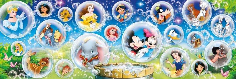 Puzzle 1000 Clementoni 39515 Panorama - Disney - Postacie z Bajek